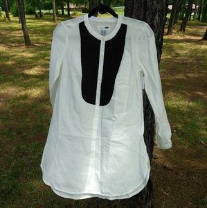 Old Navy Black and White Long Sleeve Tunic